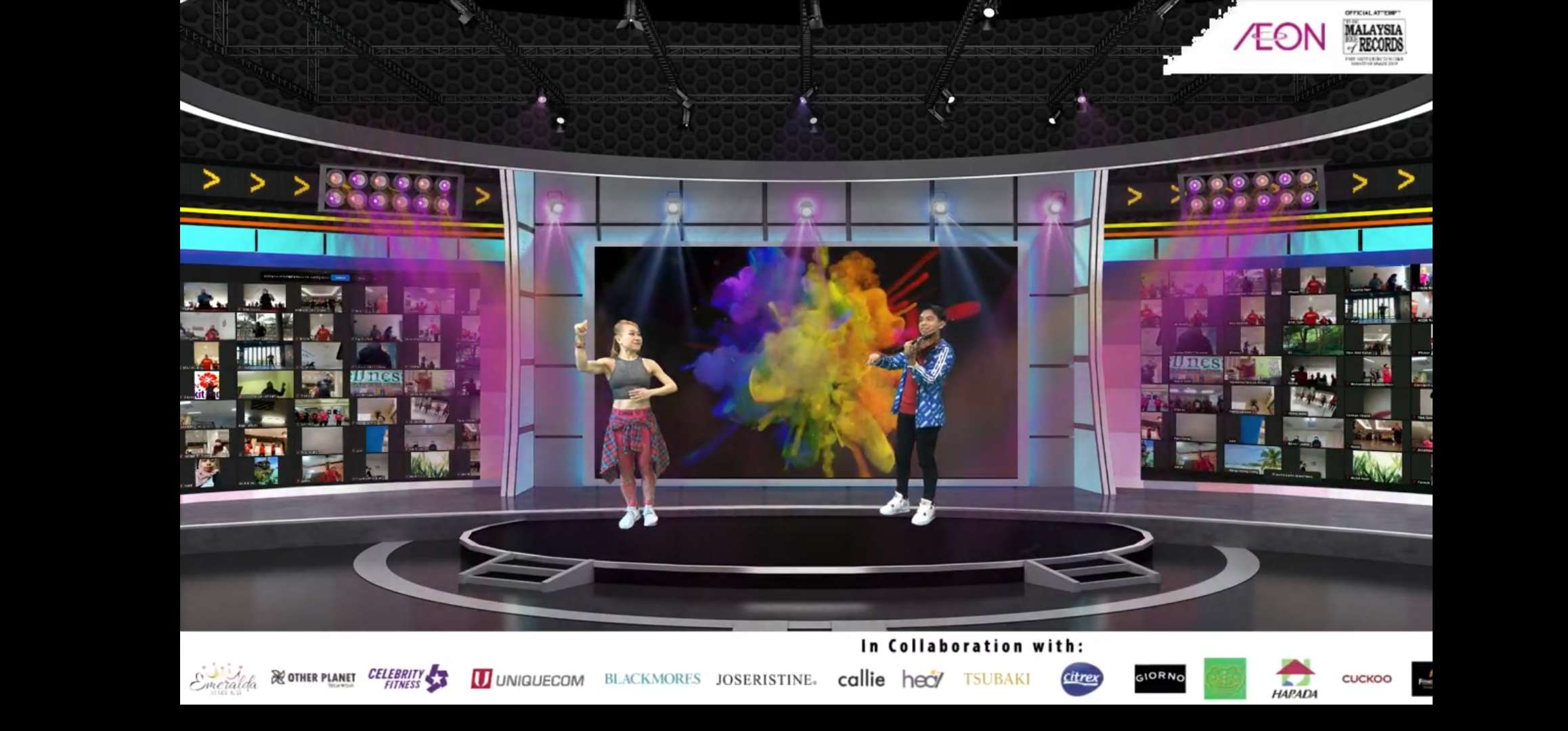AEON Zumba Live Streaming (Malaysia Book of Records' Event)